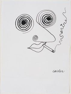 Jean-Paul Sartre, Alexander Calder, 1947. (Calder Foundation, New York) | Smithsonian