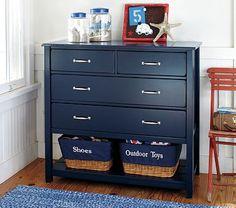 Boy's room-Paint dresser get baskets for bottom slots