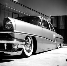 There's something awesome about a black and white digital photo of a vintage car. Mixing old n new