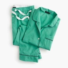 Vintage short-sleeve pajama set Love that jade color!