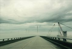 Cranes and fog on Bonner bridge today | OBX Connection Message Board