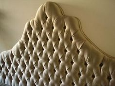 Diamond-Tufted Upholstered Headboard - hey Jess, ready to tackle this?