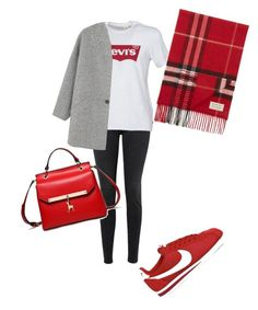 """Untitled #29"" by nidaaltayy on Polyvore featuring Frame, Levi's, MANGO, Burberry and NIKE"
