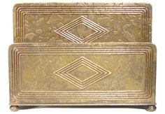 Antique Tiffany Co Studios Dore Bronze Graduate Letter Rack Holder for Desk Set | eBay