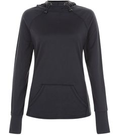 Black Pocket Front Long Sleeve Sports Top  | New Look