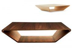 De Oscar Niemeyer Brasilia salontafel uit hout, tijdloos en authentiek