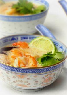 Soupe thaïe au lait de coco | Une Plume dans la Cuisine