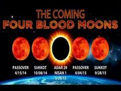 THE COMING FOUR BLOOD MOONS APR 15, 2014-2015 CRITICAL TIME IN HISTORY O...