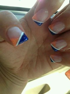 Denver broncos nails lookin good nails toes pinterest bears nails prinsesfo Gallery