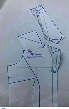 Doll Dress Patterns, Coat Patterns, Clothing Patterns, Diy Fashion Hacks, Sewing Collars, Pattern Draping, Pajama Pattern, Sewing Blouses, Collar Pattern