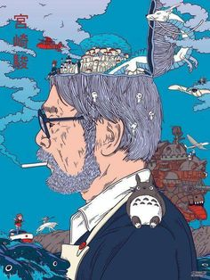SosuChan — Hayao Miyazaki Art from Début Art Hayao Miyazaki, Studio Ghibli Films, Art Studio Ghibli, Studio Art, Studio Ghibli Quotes, Arte 8 Bits, Japon Illustration, Animes Wallpapers, Fanart