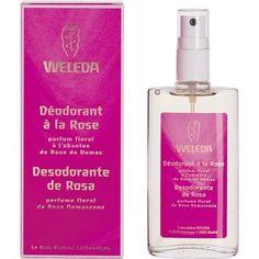 Weleda ROSE MUSQUEE Déodorant au parfum floral, elimine les odeurs désagréables et laisse une sensation de fraîcheur et de bien-être. http://www.pharmacie-sante.com/weleda-deodorant-rose-musquee-vaporisateur-de-100-ml.html