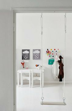 What a fun idea for indoors if you have enough room!  Colour pop children's room