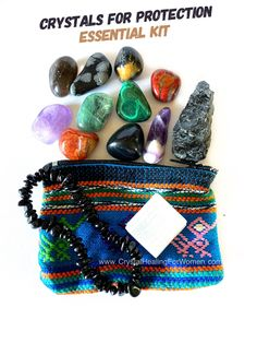 Crystals For Protection The Essential Kit | CrystalHealingForWomen Jet Stone, Obsidian Stone, Tourmalinated Quartz, Snowflake Obsidian, Protection Stones, Color Shapes, Red Jasper, The Victim, Smokey Quartz