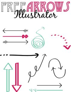 FREE arrows for Photoshop and Illustrator for your blogs, printables, etc.