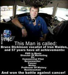 Bruce Dickinson is brilliant!
