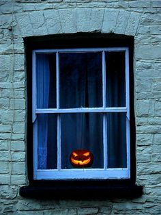 Jack o-lantern in the window