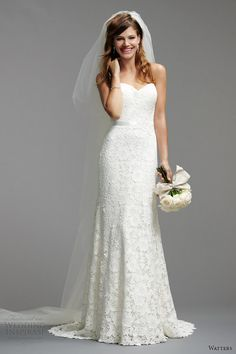 watters brides 2014 spring bridal strapless wedding dress style 5012B   #wedding #dress #weddingdress #white #gown