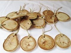 Wood Ornaments Wood Gift Tags Tree Slices by DivineRusticCreation, $20.00