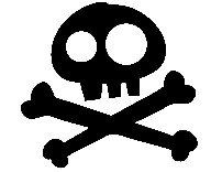 Jake and the Neverland Pirates Skull silhouette DIGITAL file. $2.00, via Etsy.