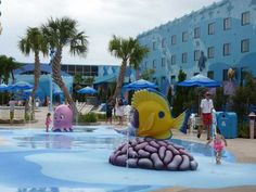 Big Blue Pool at the Art of Animation resort. #Disney