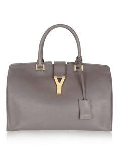 The Saint Laurent Ligne Classic, this bag is sleek and means business. Saint Laurent tote, $2,695, net-a-porter.com.