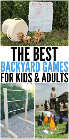 When summer arrives it means most families spend a lot more time outdoors! We posted about family-friendly backyard ideas before, so we figured why not share some fun backyard games too.