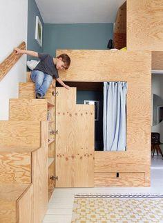 Warum Jäll&Tofta so gerne mit Sperrholz arbeiten.   Waldfrieden State #furnituredesigns Kid Beds, Bunk Beds, Girls Bedroom, Bedroom Decor, Boy Bedrooms, Home Staging, Family Room, Kids Rooms, Plywood