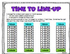 FREE classroom management download: Line up tips and printables are included in this free classroom management download. Perfect for Back to School or when your class needs to a new approach. You can add a little math when you line up your students if you tape the signs included