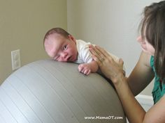 Use a therapy ball to make tummy time easier and more fun for your baby! Learn how here from @ckiley #OTlifehack