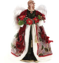 Asstd National Brand Roman 16 Wine Angel Treetopper