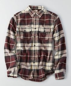 AEO Flagstaff Flannel, Men's, Maroon
