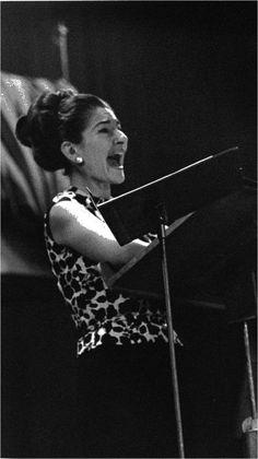 Maria Callas during an EMI studio recording