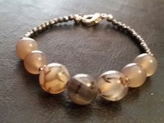 Grey Marbles and Hematite by GreenePumpkins on Etsy