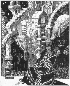 Enrique Alcatena - The Weird Album Art Nouveau Illustration, Fantasy Illustration, Comic Book Layout, Dark Landscape, Dark Artwork, Horror, Environment Concept Art, Black And White Drawing, Sci Fi Art