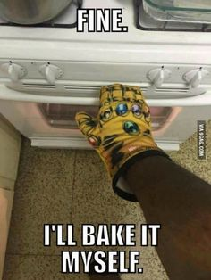 Thanos the Baker haha funny. This was from the May lootcrate but I thought it got recalled