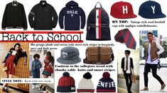 Conform to this years back to school trends with smart striped collegiate looks and relaxed skater styles worked with bold graphics, strong color palettes and block fonts. Back To School Checklist, School Trends, Cold Weather Gear, Skate Style, School Looks, Custom Clothes, Black Cotton, Preppy, Latest Trends