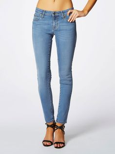 Guess Power Curvy In Viola Wash 30 Leg Length   Just Jeans