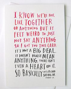 """Awesome """"it's complicated"""" Valentine's Day card  yes"""