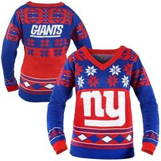 NFL New York Giants Unisex Intarsia Sweater - Women's Tops - Long ...