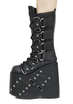 Demonia Queen Of The Damned Platform Boots #cybergothboots