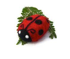 Ladybug Felted Soap Spring Childrens Gift