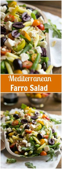 Mediterranean farro salad + tips to make your salads taste like they ...
