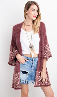 Aztec sweater cardigan from MOss.