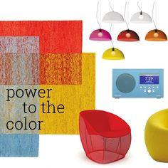 Bubbles lamp @designbestcom  http://www.martinelliluce.it/prodotti/product/72 | Power to the color: una moodboard tutta colorato e vivace.
