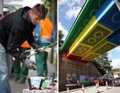 Streetart: Bridge in Wuppertal converted into LEGO-Bridge (6 Pictures) > Design und so, Illustrationen, Netzkram, Paintings, Streetstyle > bridge, germany, lego, legobridge, megz, streetart, wuppertal