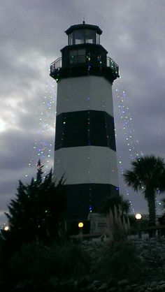 Governors Lighthouse Christmas Lights, Little River, SC