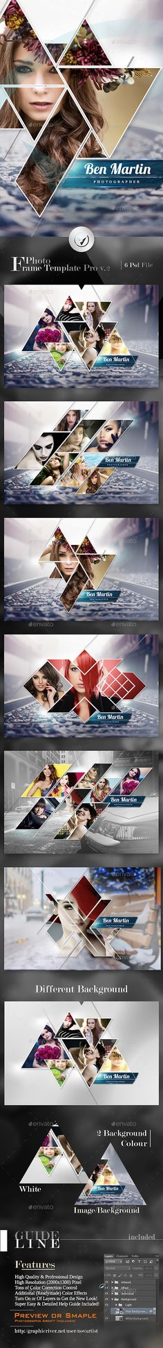 Photo Frame Template Pro #photography #psd Download: http://graphicriver.net/item/photo-frame-template-pro-v2/13207696?ref=ksioks