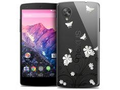 Coque Crystal Nexus 5 Extra Fine Summer - Papillons - 7,90 €