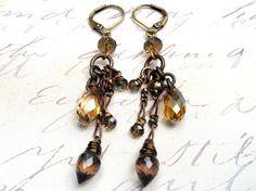 Mystic Falls Crystal Drops Dangle Earrings by JessicaKlaaren, $40.00